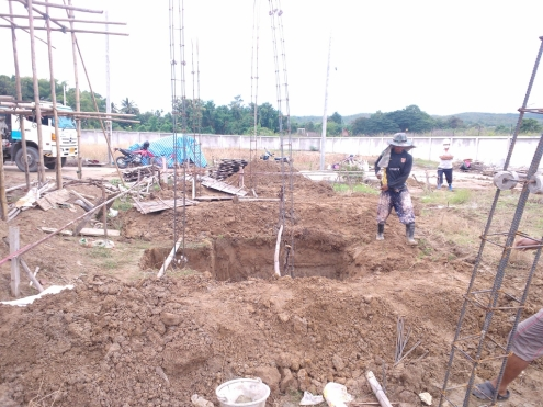 Footings dug & prepared