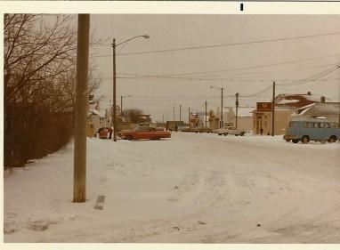 Ashern town in winter