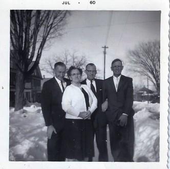 Grant, sister, Robert (dad) & Sam