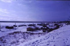 Fort Norman town winter