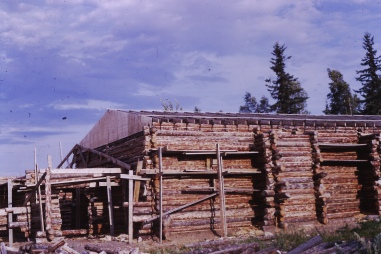 Log building construction