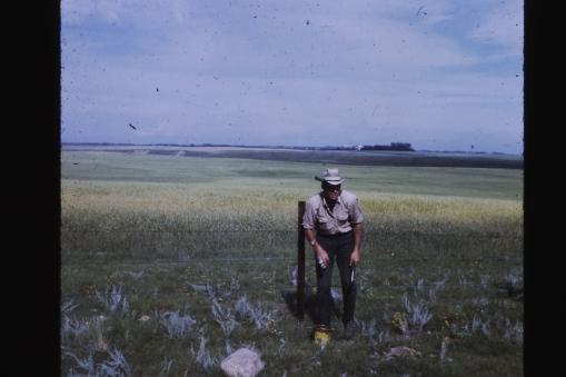 His prairie farmland