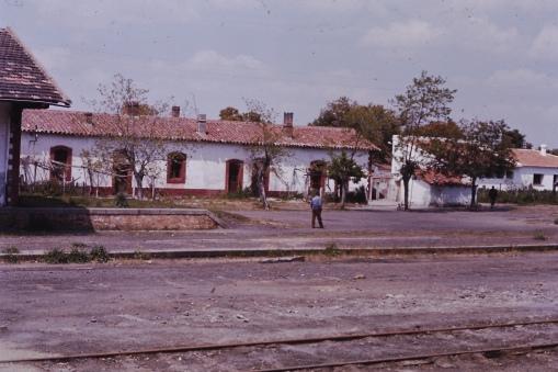 Portugal village train station