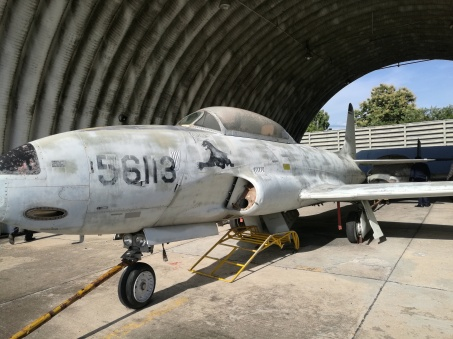 old fighter jet