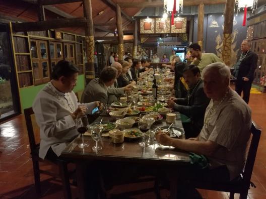 Enjoying Dinner