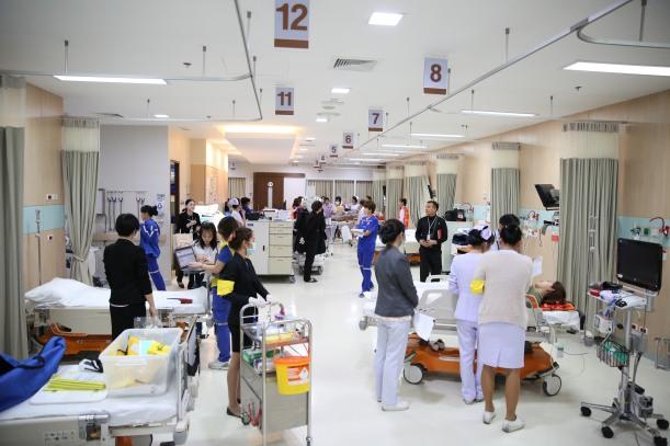 A busy facility