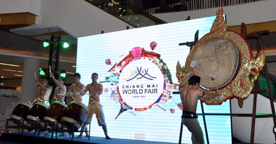 Thai drum performance
