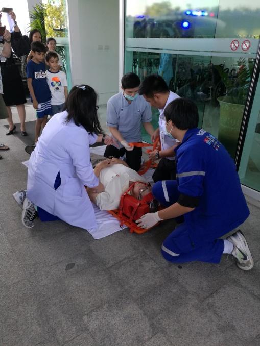 doctors and ambulance staff on scene