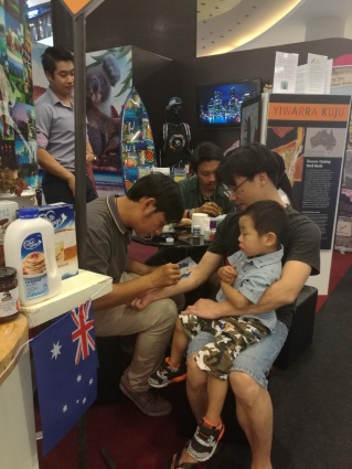 dad and son get inked