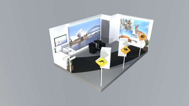 Aussie Booth layout