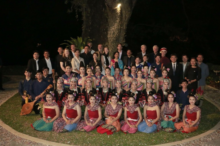 The dancers, guests and CC members