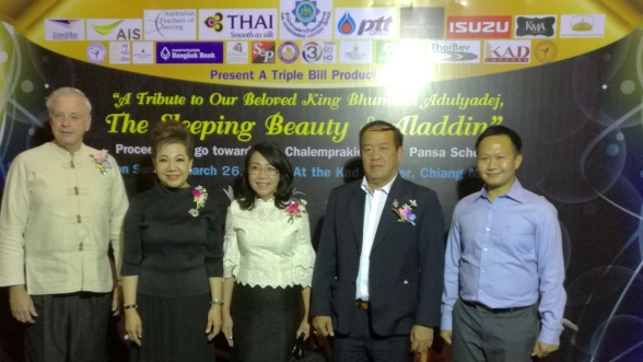 Thanking the Chiang Mai Ballet Academy