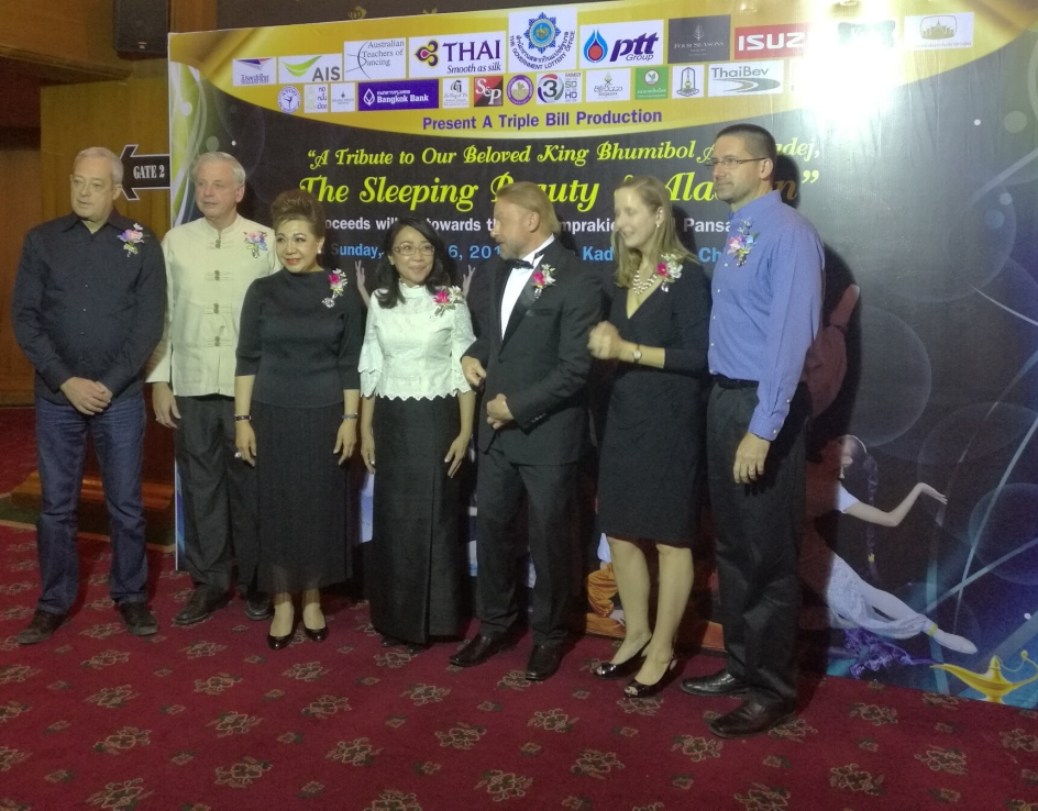 Myself, ML Preeyapun, Military Commanders wife, Russian Ambassador, US Consul General and husband