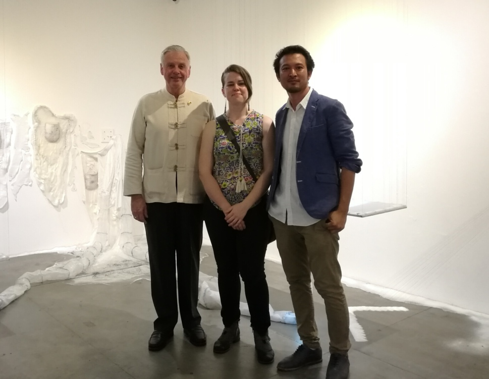 with the artist & gallery owner