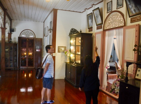 exhibits on display