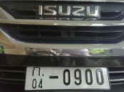 New Consular License plate