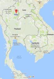 Nan location in Thailand
