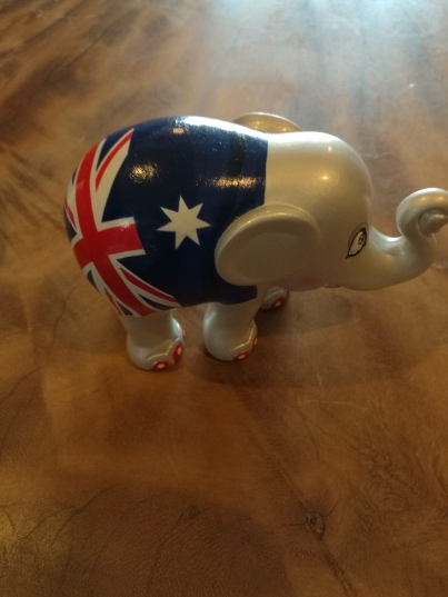 Cute elephant sculpture