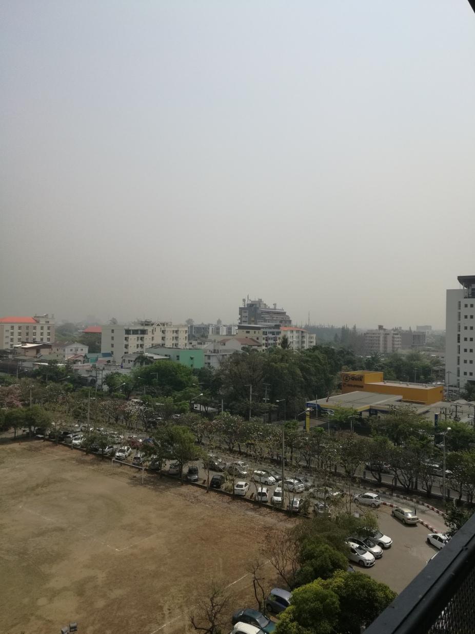 city view of smoke haze