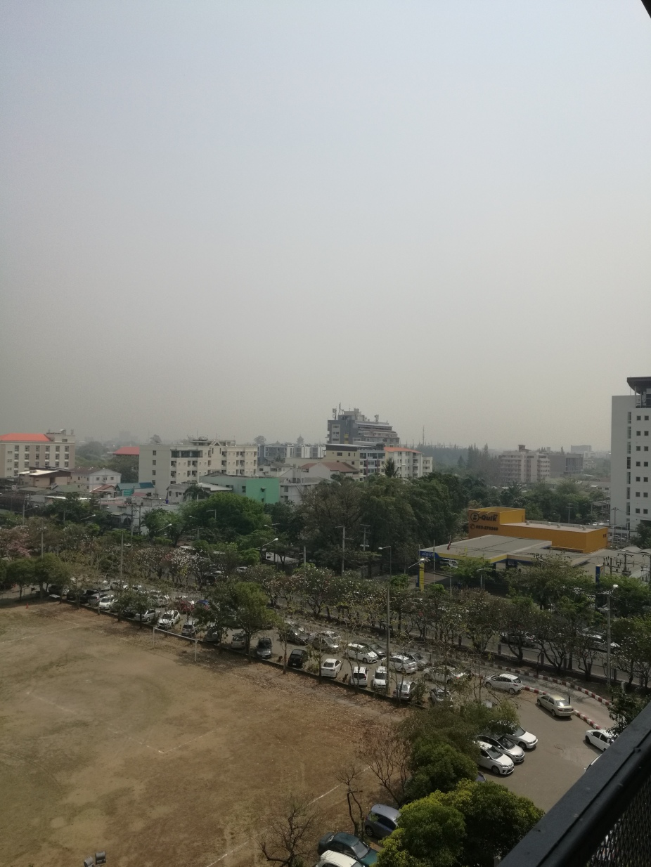 city view of smoke haze