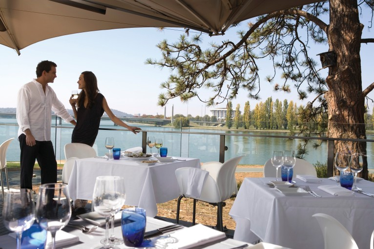 Canberra lunch with Lake views