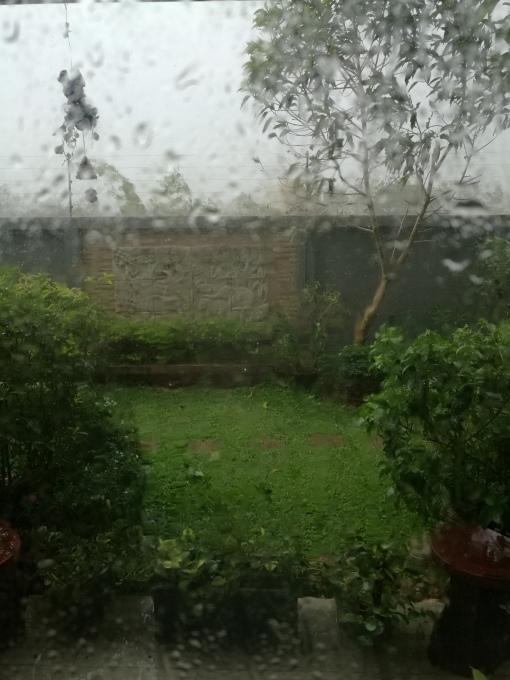 a wet rainy day