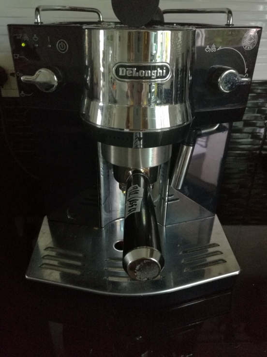 Repaired coffee machine
