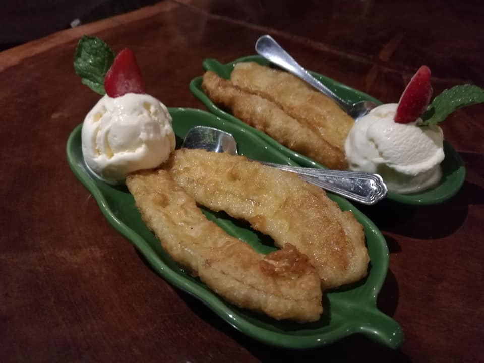 Fried Banana & Ice Cream